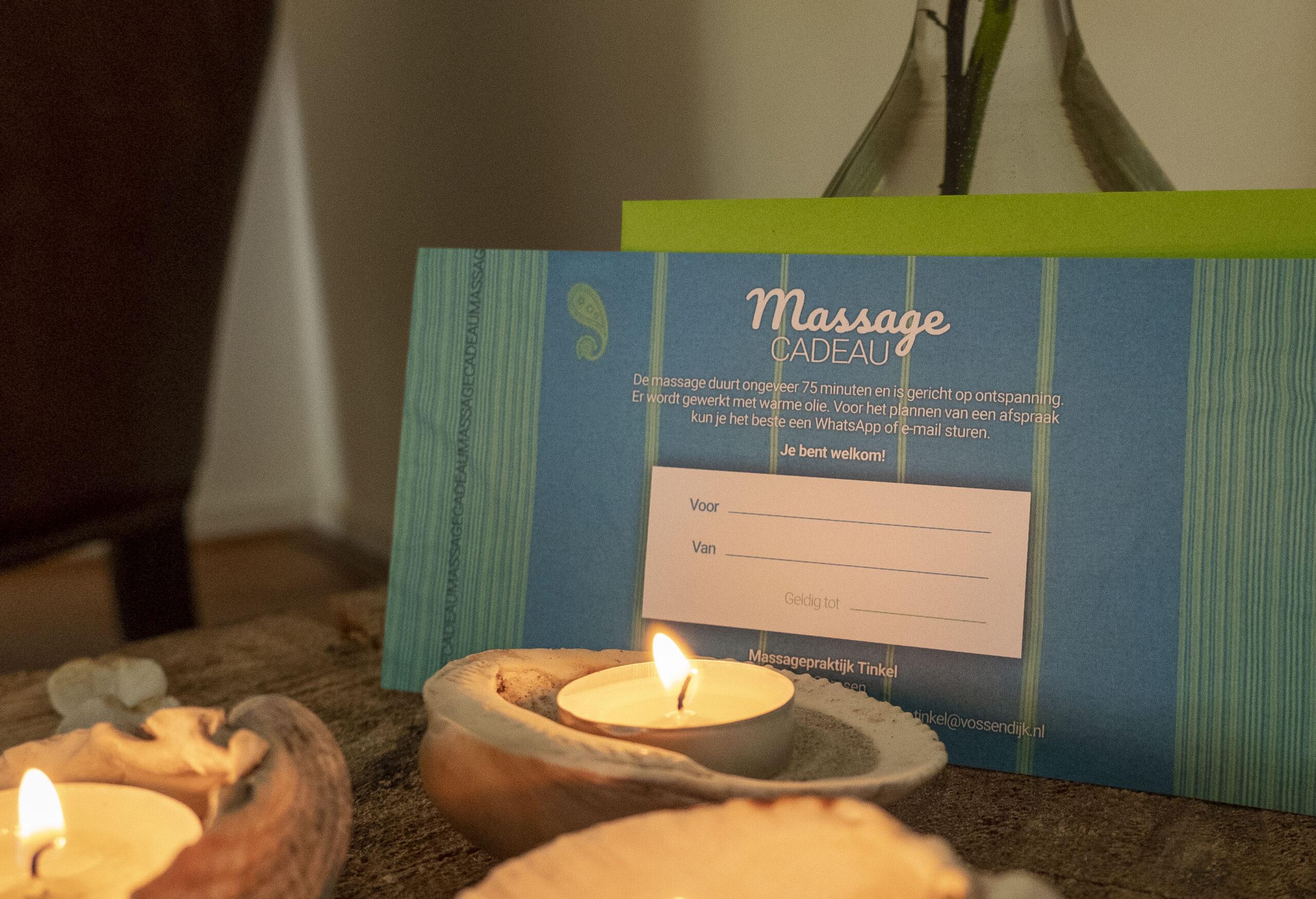 Prijzen Cadeaukaart Massagepraktijk Tinkel Nijmegen